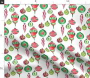 Christmas Ornaments Decorations Watercolor Spoonflower Fabric By The Yard