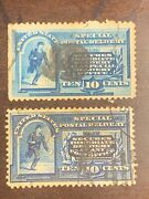 Us Stamps 19th Century Special Delivery Jumbo Margin Fancy Cancel Xf