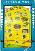 Vintage Billy's Toy Bagatelle Game Big Flipper Pinball Greek New In Box Rare