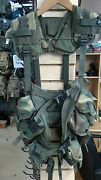 Us Army Issued Vest, Tactical Load Bearing Enhanced, With Pouches, Woodland
