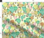 Adobe Kuler Baby Hot Air Balloons Kids Spoonflower Fabric By The Yard