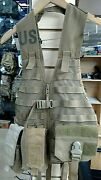 Us Army Issued Load Bearing Vest, Coyote, With Pouches