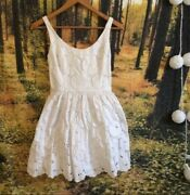 Abercrombie And Fitch Flagship White Dress Small Retails 149