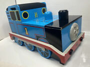 Vintage Thomas The Train Wooden Toy Box With Seat With Many Tracks And Engine