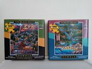 The Black Hills And North Shore 1000 Piece Jigsaw Puzzles By Dowdle Lot Of 2