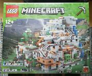 Lego 21137 Minecraft The Mountain Cave 100 Complete Pieces/manual/box Rare