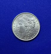 1887 P Morgan Silver Dollar Brilliant Uncirculated Great Luster And Strike