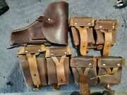 Mosin Nagant Ammo Pouch And Holster Lot