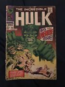 Incredible Hulk 102 196 Key- 1st Issue Of Own Title - Low Grade But Complete