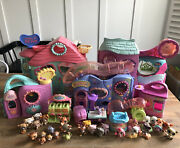 Biggest Littlest Pet Shop Lps Playset Huge Lot With Key 31 Pets And Treat Center