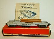 Lionel Postwar No.3361x Operating Lumber Car W/ Logs, Instructions And Box O Scale