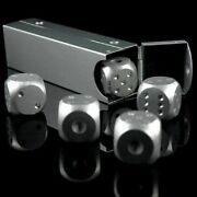5pcs Alluminum Alloy Dice Stainless Steel Wine Coolers Chiller Reusable Ice Cube
