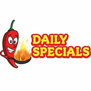 Daily Specials 36 Concession Decal Sign Cart Trailer Stand Sticker Equipment