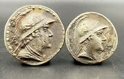 Old Currency Ancient Antique Silver Indo Greekand039s Greco Bactrian Coins
