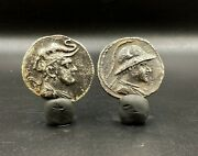 Rare Old Currency Ancient Antique Silver Indo Greekand039s Greco Bactrian Coins