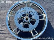 08-20 Harley Chrome 19 Front Enforcer Wheel W/ 2 Rotors Touring Outright Sale