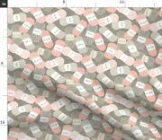 Rose Knitting Words Small Scale Dream Ditsy Spoonflower Fabric By The Yard