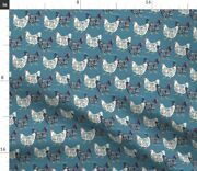 Chicken Hen Farmhouse Spoonflower Fabric By The Yard