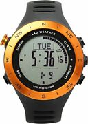 Lad-weather Altimeter Heart Rate Monitor Sports Watch Usb Rechargeable Orange