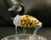 D.a, Lures Folk Art Wooden Mother Goose Duck Fishing Lure 3 Glass Eyes