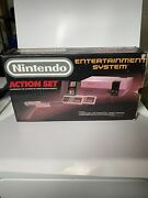 Nintendo Entertainment System Action Set In Original Box Tested Works Duck Hunt