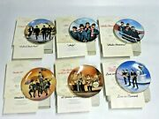 Vintage Delphi The Beatles Collectible Plates Lot Of Six 6