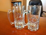 34 Oz Jumbo Beer Mugs 2 Heavy Glass Add A Vinyl Customized Name For 5 More
