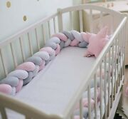 Wholesale Infant Crib Baby Bumper Bedding Knot Cushion Protector Fence