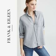 Frank And Eileen Shirt Style Eileen Shirt In Gray Long Sleeve Front Pocket Size Xs