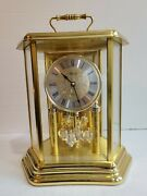 Franz Hermle Mantle Desk Shelf Carriage Chime Pendulum Clock Made In Germany