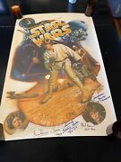 1987 Star Wars The First Ten Years Poster 27x41 Signed Kilian Version Rare Find