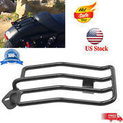 Black Luggage Rack Solo Seat For Harley Davidson Sportster Xl883 1200 2007-2015
