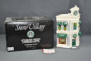 Dept 56 Starbucks Coffee Snow Village 54859 With Light Cord. Preowned