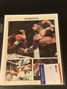 1986 Mike Tyson Signed Photo Super Rare Early Vintage Autograph Psa Coa Mag Page