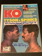 1988 Mike Tyson Signed Photo Super Rare Early Vintage Autograph Psa Coa Mag Page