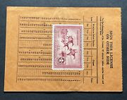 Rw2 - 1935 Federal Duck Stamp Wisconsin Hunting Permit License
