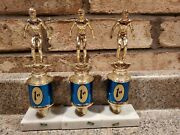 Vintage First-place Medal Swimming Trophy With Marble Base H5