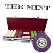 500-count And039the Mintand039 Poker Chip Set In Aluminum Case 13.5gm Black