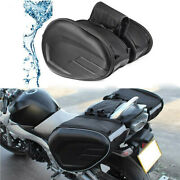 2x Motorcycle Side Pouch Oxford Carbon Fiber Saddlebags Travel Bags Waterproof