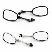 10mm Motocycle Rear View Mirrors Fit Suzuki Gsf250 Bandit 250/400/600 Sv1000 Af6