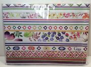 """New Gien France Bagatelle 100 Cotton 28x20"""" Floral Tea Towel Made In Italy"""