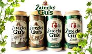 Empty Cans Zatecky Gus 2017-2021 Collectible Beer Cans 4 Pcs Cans 900 Ml