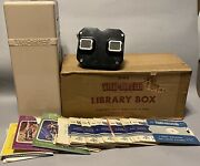 1950s Vintage Bakelite Sawyers View Master With Library Box And Reels. X1257