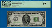 Sole Finest - 1928-a 100 Frn Only 1 Known- Light Geen Seal Pcgs 50 0256-
