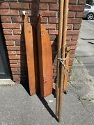 Vintage Complete Ted Shea Sail Rig Sailing Canoe Wooden Boat Old Town