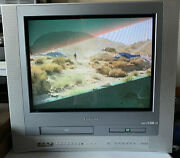 Toshiba 20 Crt Gaming Color Tv Vcr Dvd Combo Player Works Mw20fn1