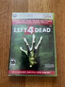 Left 4 Dead Game Of The Year Edition 1st Print Xbox 360 2009 Factory Sealed
