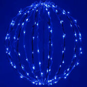 Christmas Light Ball Led Blue Lighted Holiday Sphere Hanging Display Decoration