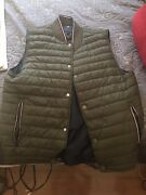 Down Vest Menandrsquos L Emerald Green With Accents