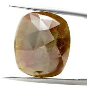Big Natural Rustic Diamond 14+ct Reddish Yellow Sparkling Oval Rose Cut For Gift